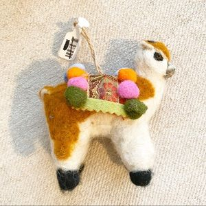 Anthropologie Holiday - Anthropologie Llama ornament